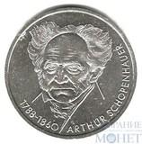 """10 марок, серебро, 1988 г., ФРГ, """"Артур Шопенгауэр"""""""