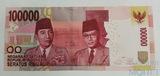 100000 рупий, 2014 г., Индонезия