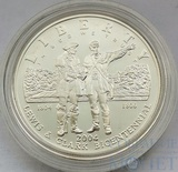 "1 доллар, серебро, 2004 г.,""Экспедиция Льюиса и Кларка"", США"