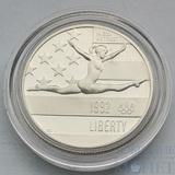 "50 центов, 1992 г., (S), США,""Олимпиада, гимнастика"""