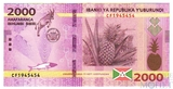 2000 франков, 2018 г.. Бурунди