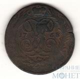 """2 копейки, 1758 г., гурт-""""шнур"""""""