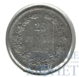 Монета для Финляндии: 25 пенни, серебро, 1898 г.