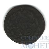 полушка, 1786 г., КМ, Узденников (-), Биткин - R2, Ильин - 5р., очень редкая