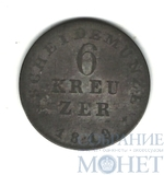 6 крейцеров, серебро, 1819 г., Гессен-Дармштадт(Германия)