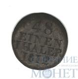 1/48 талера(1/2 грош), серебро, 1812 г., Н, Саксония-Альбертиния(Германия)