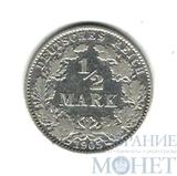 1/2 марки, серебро, 1905 г., Германия