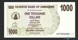 1000 долларов, 2007 г., Зимбабве
