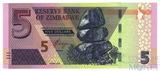 5 долларов, 2019 г., Зимбабве