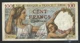 100 франков, 1942 г., Франция