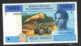 1000 франков, 2002 г., Конго