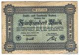 500 марок, 1922 г., Германия(Ахен)
