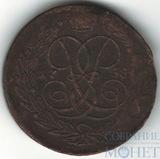 """5 копеек, 1758 г.,""""без букв"""""""