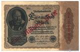 1000000000 марок 1923 г. на 1000 марок 1922 г., Германия